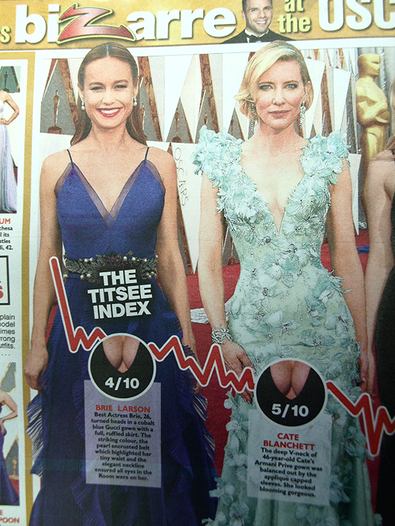 The Sun's Titsee Index Centerfold Spread