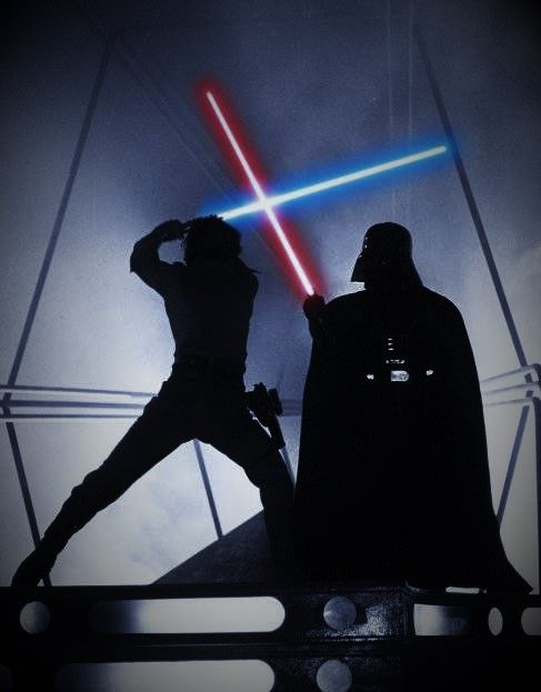 Luke Skywalker vs Darth Vader, Epic Lightsabre Duel, Good vs Evil.