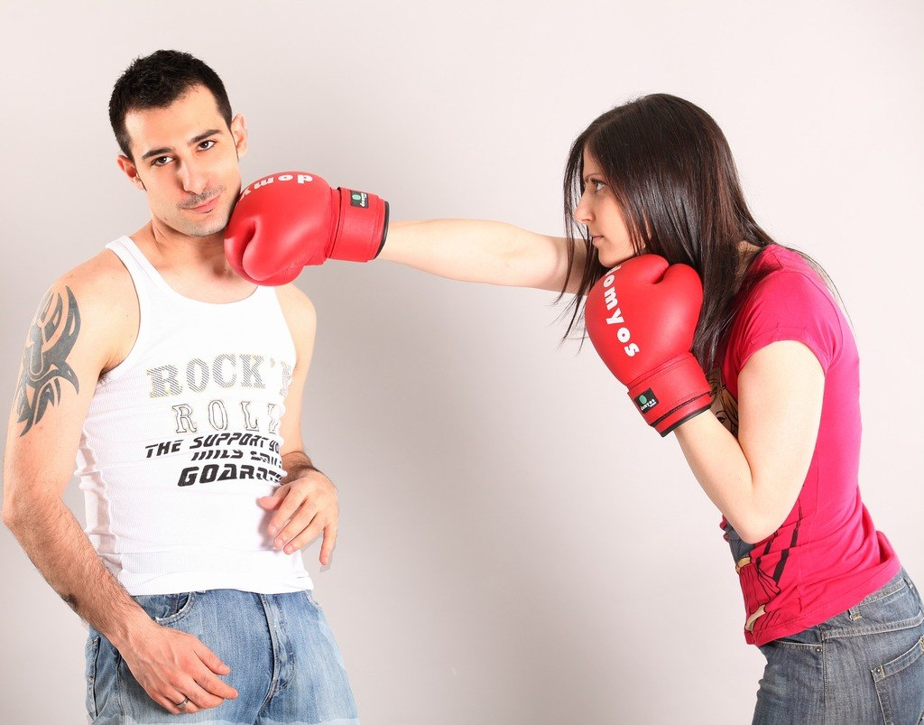 Girl Punching Guy