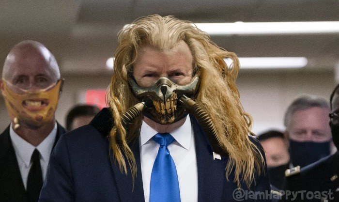 Donald Trump Going Overboard with a mask