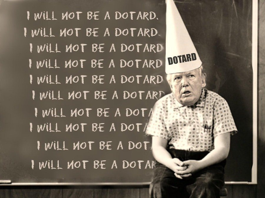 I will not be a Dotard