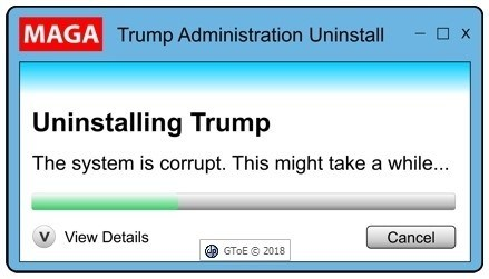 Uninstalling trump Corrupted 1